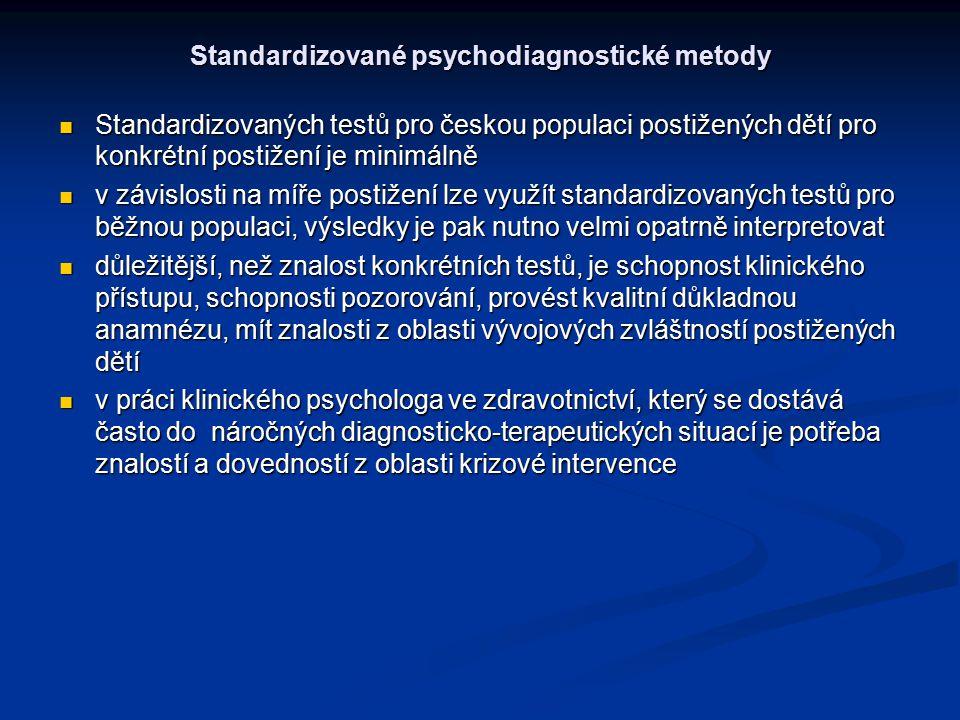 Standardizované psychodiagnostické metody