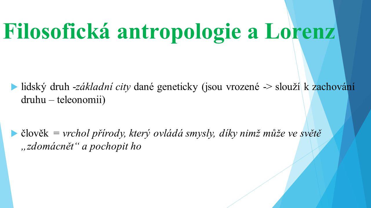 Filosofická antropologie a Lorenz