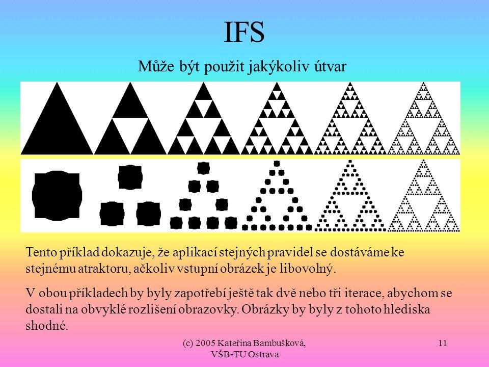 IFS Může být použit jakýkoliv útvar
