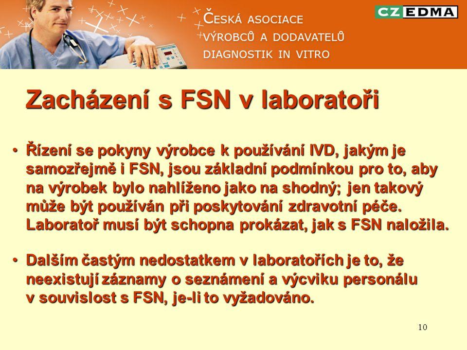 Zacházení s FSN v laboratoři