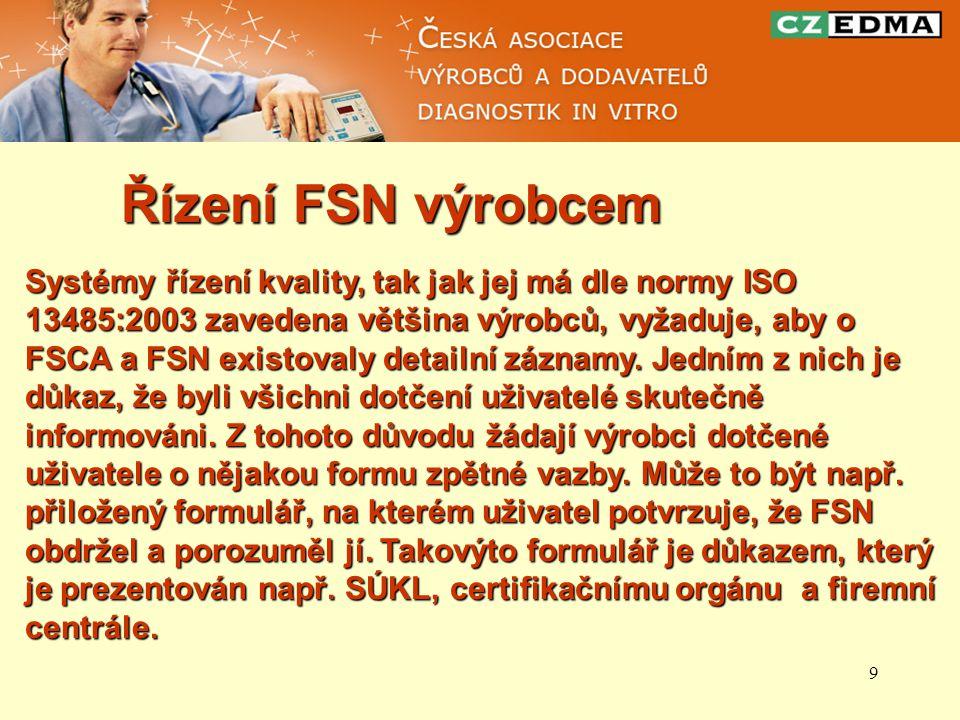 Řízení FSN výrobcem