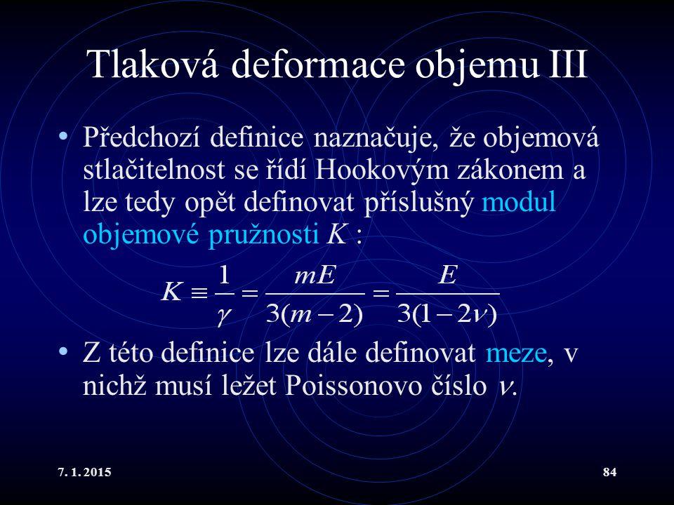 Tlaková deformace objemu III