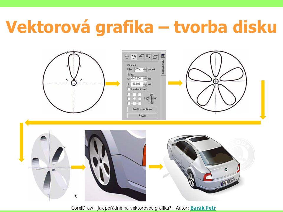 Vektorová grafika – tvorba disku