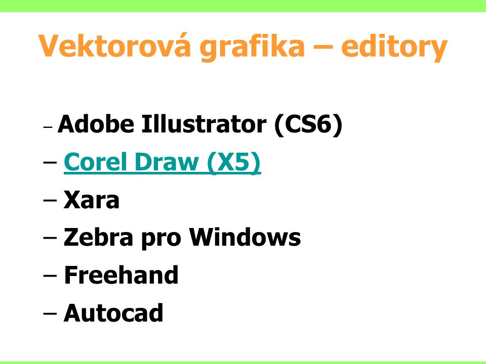 Vektorová grafika – editory