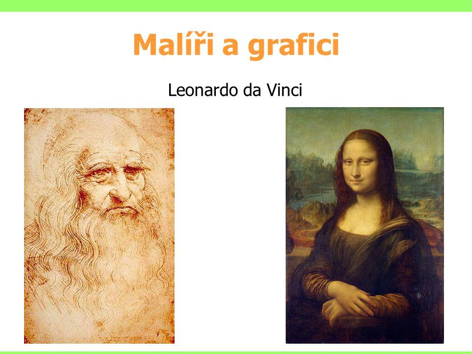 Malíři a grafici Leonardo da Vinci