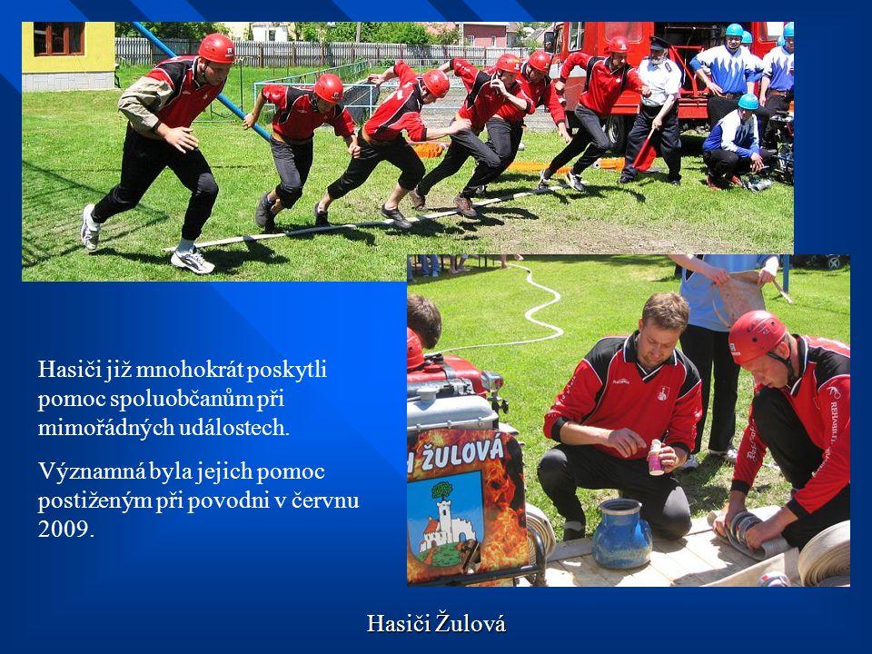 Hasiči již mnohokrát poskytli pomoc spoluobčanům při mimořádných událostech.