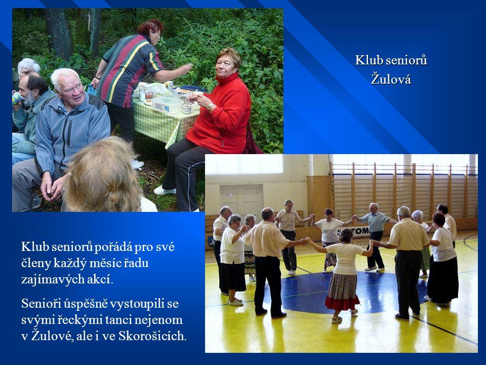 Klub seniorů Žulová. Klub seniorů pořádá pro své členy každý měsíc řadu zajímavých akcí.