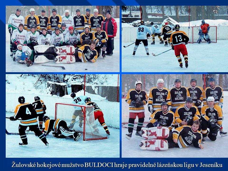 Žulovské hokejové mužstvo BULDOCI hraje pravidelně lázeňskou ligu v Jeseníku