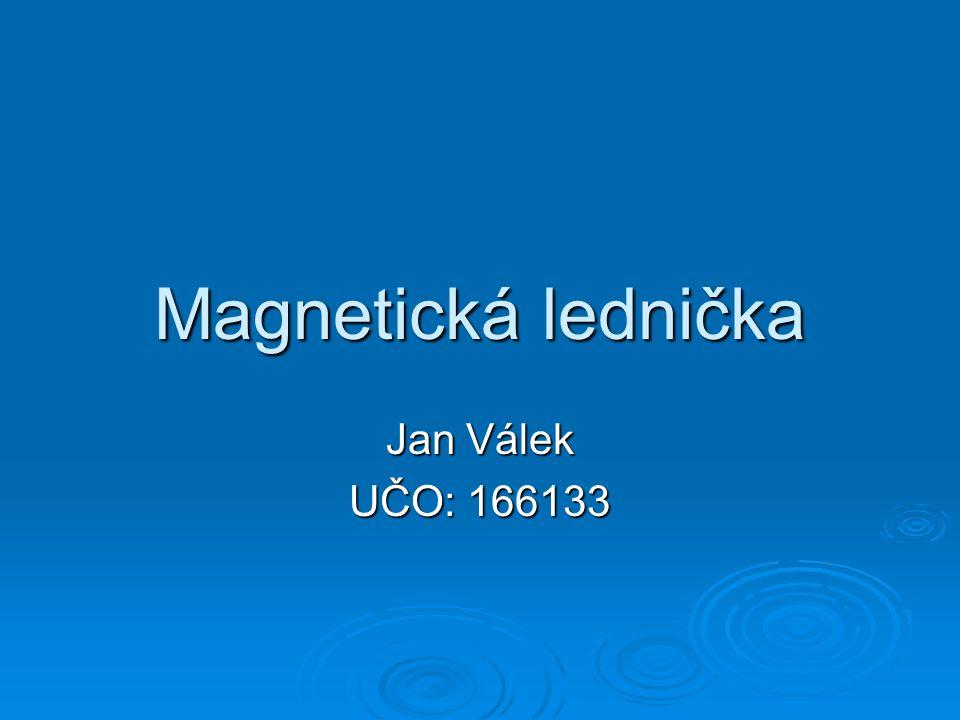Magnetická lednička Jan Válek UČO: 166133