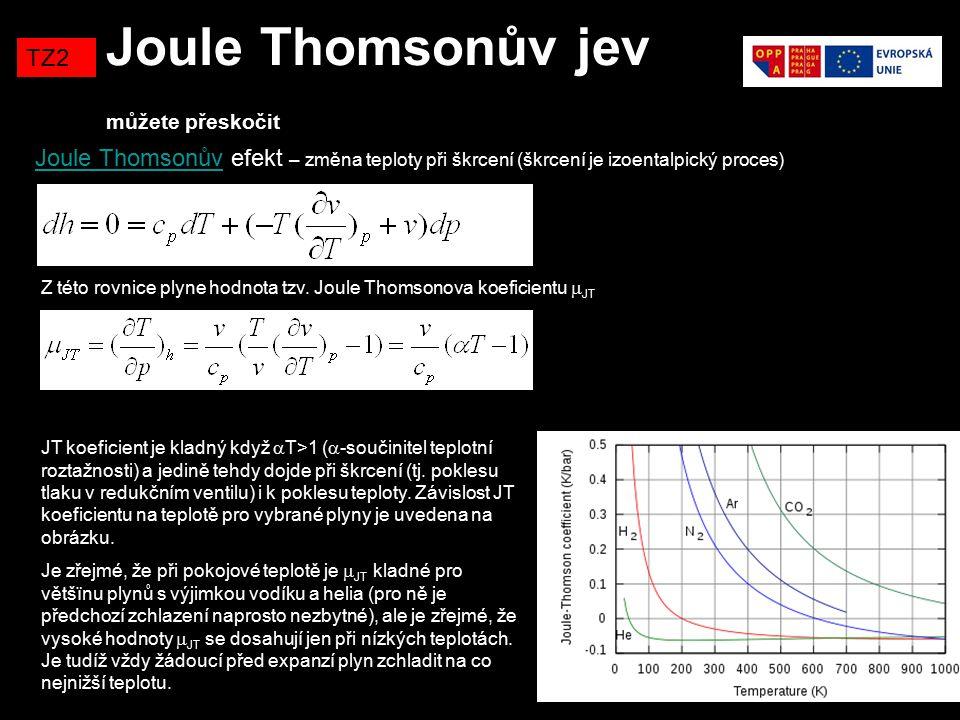 Joule Thomsonův jev můžete přeskočit