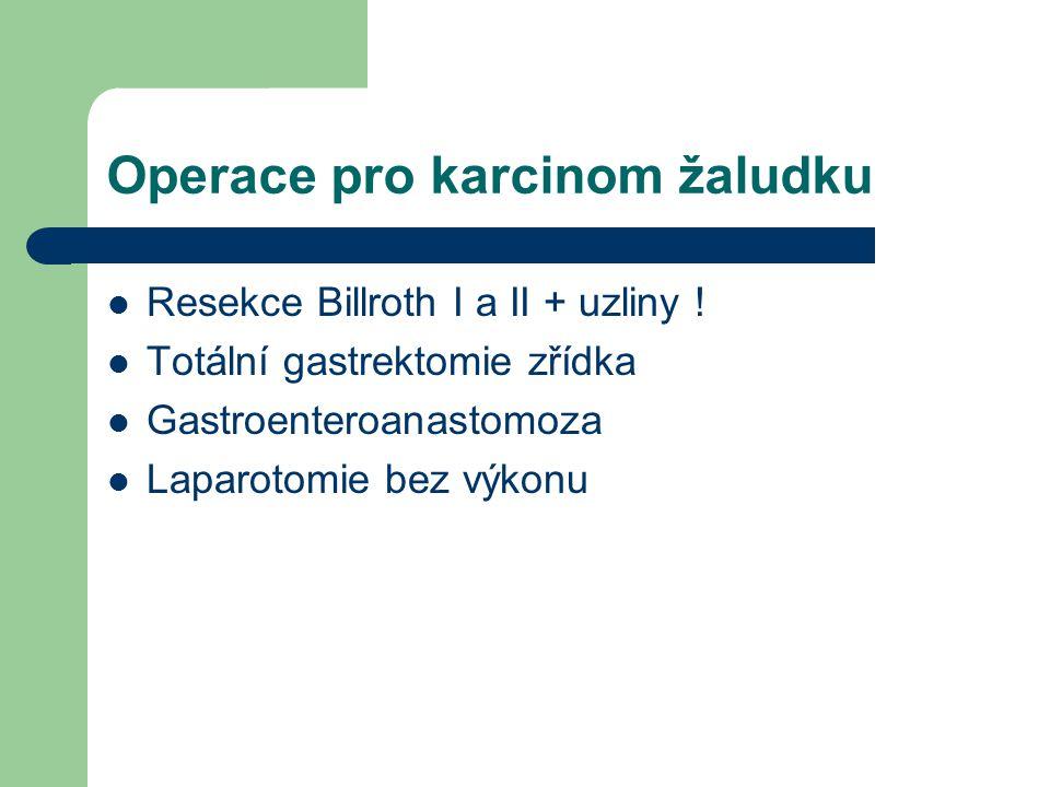 Operace pro karcinom žaludku