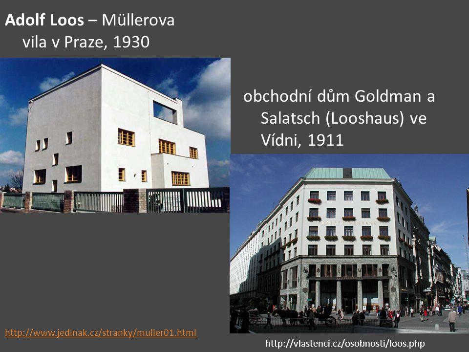 Adolf Loos – Müllerova vila v Praze, 1930