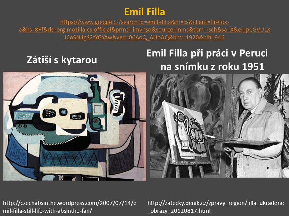Emil Filla při práci v Peruci na snímku z roku 1951 Autor: ČTK