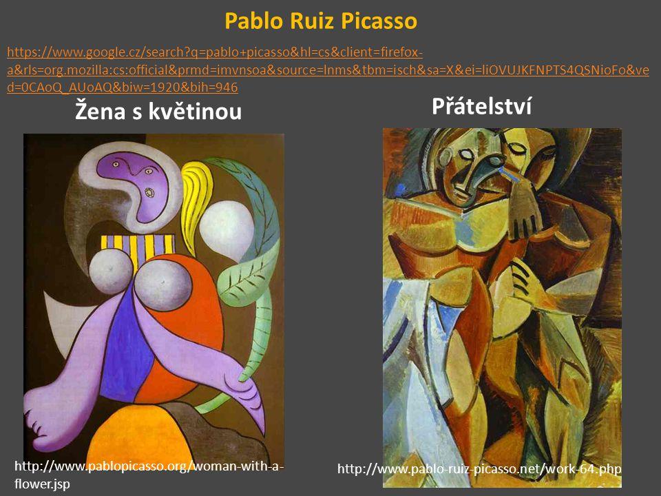 Pablo Ruiz Picasso Přátelství Žena s květinou