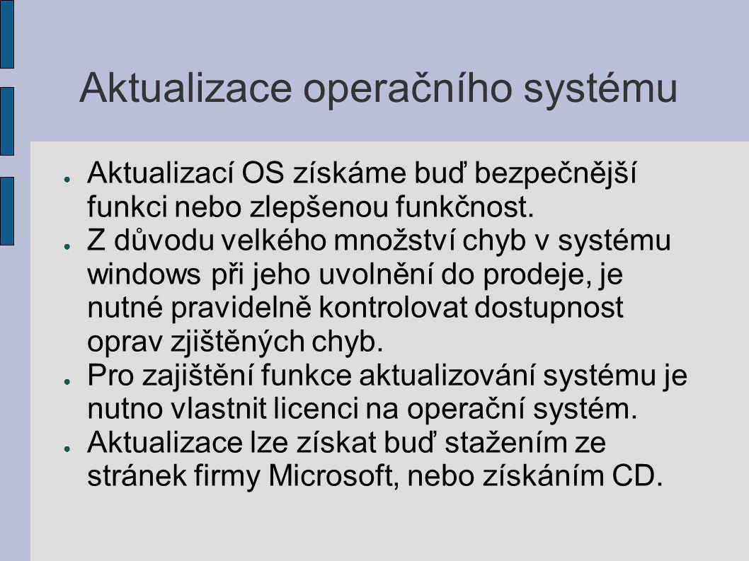 Aktualizace operačního systému