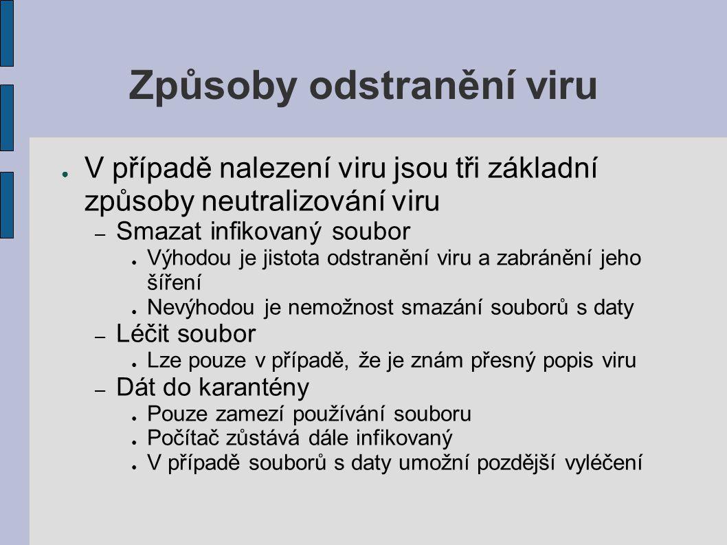 Způsoby odstranění viru