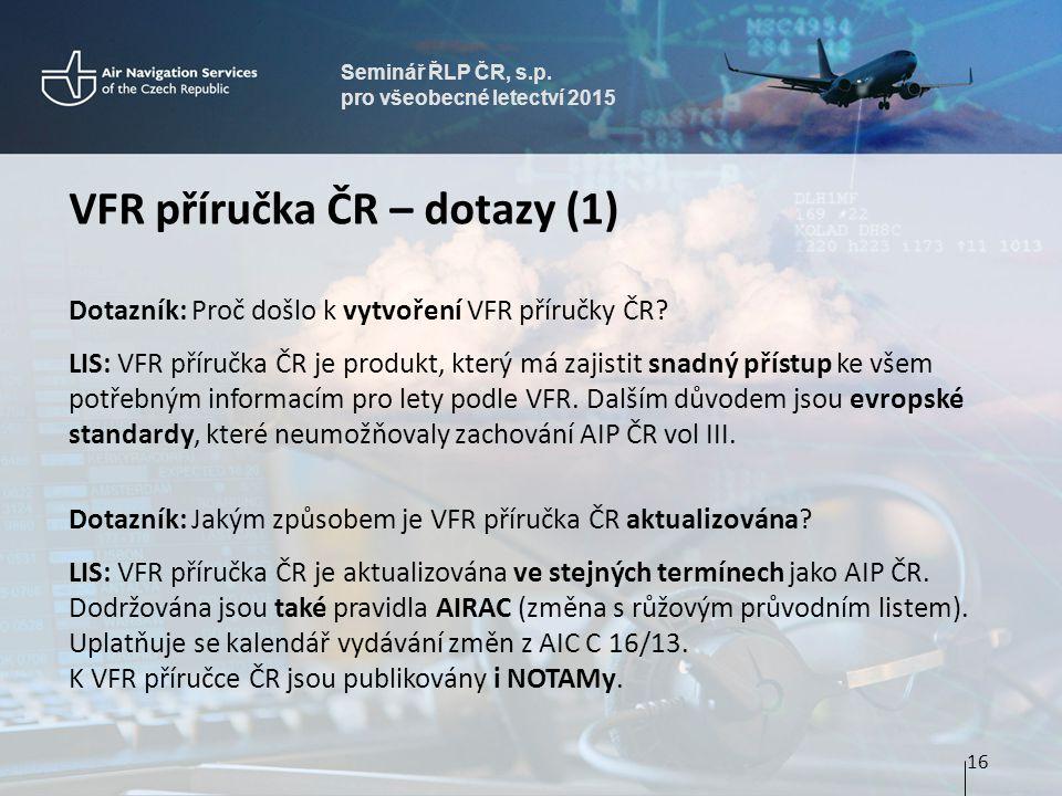 VFR příručka ČR – dotazy (1)