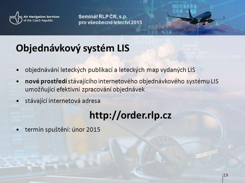Objednávkový systém LIS