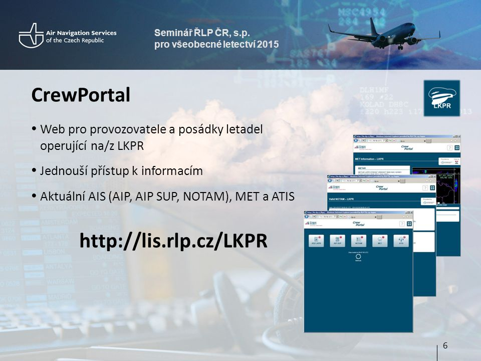 CrewPortal http://lis.rlp.cz/LKPR