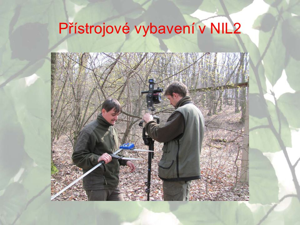 Přístrojové vybavení v NIL2