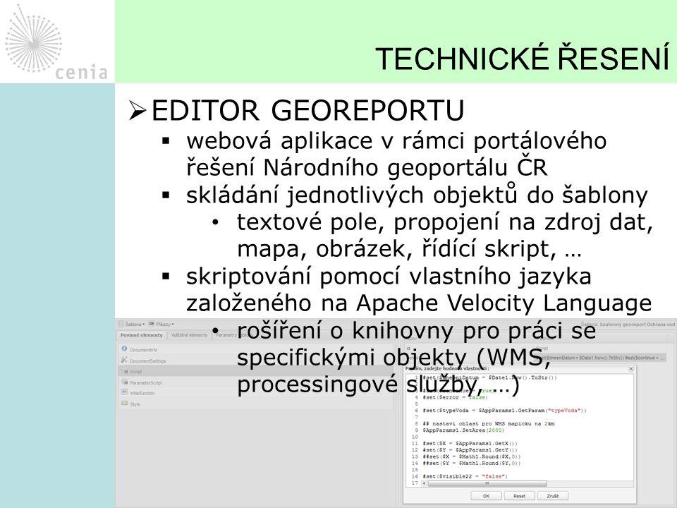 TECHNICKÉ ŘESENÍ EDITOR GEOREPORTU