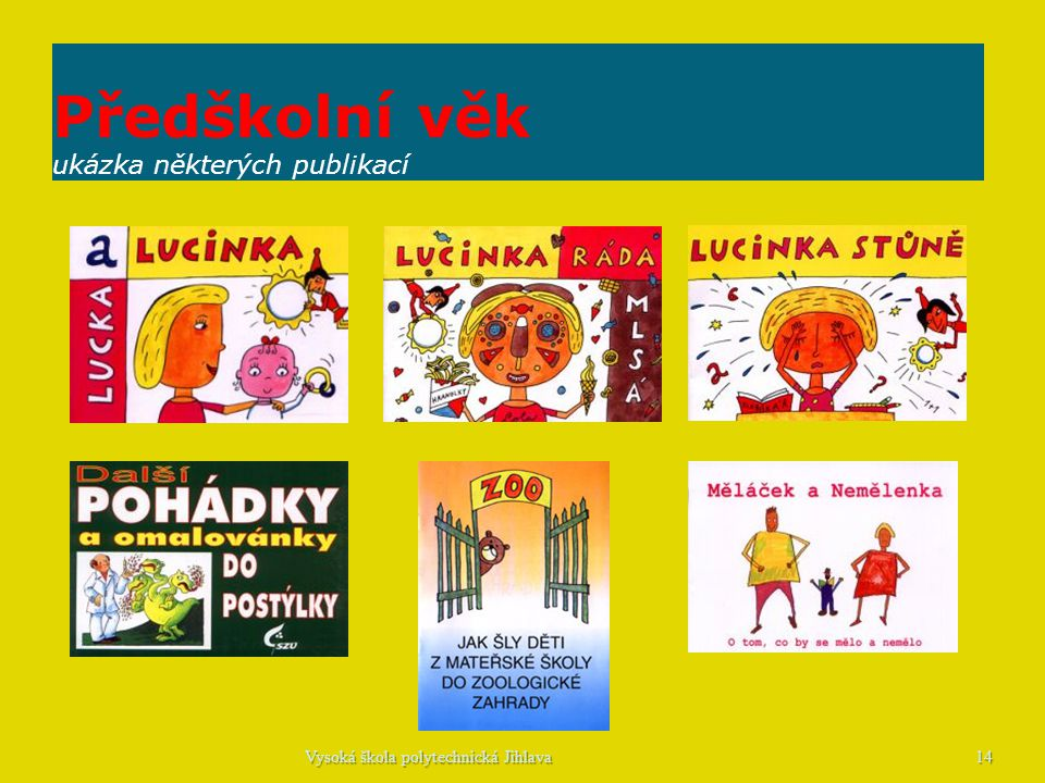 Předškolní věk ukázka některých publikací