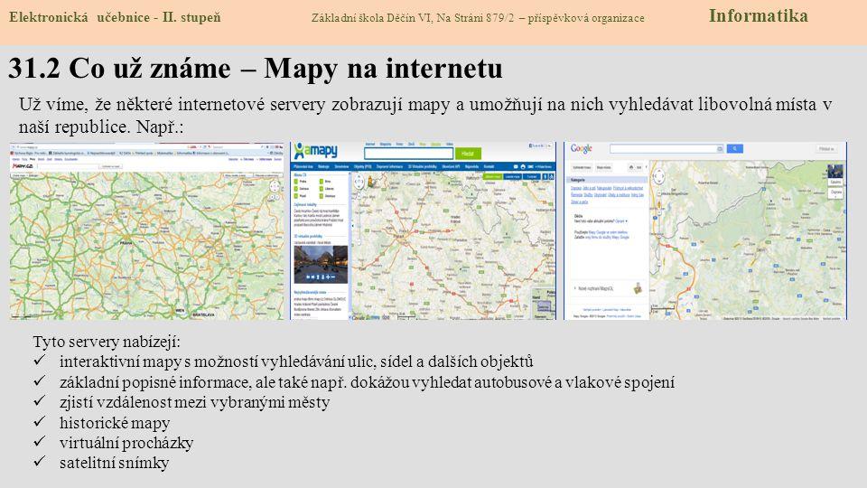 31.2 Co už známe – Mapy na internetu