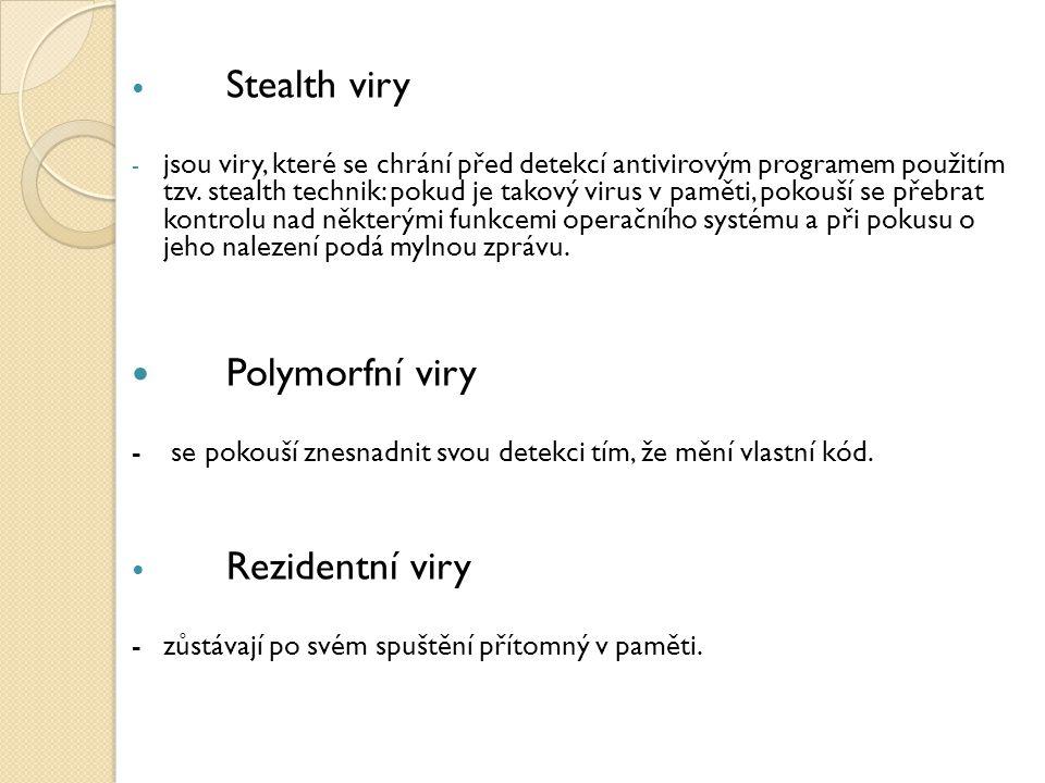 Polymorfní viry Stealth viry