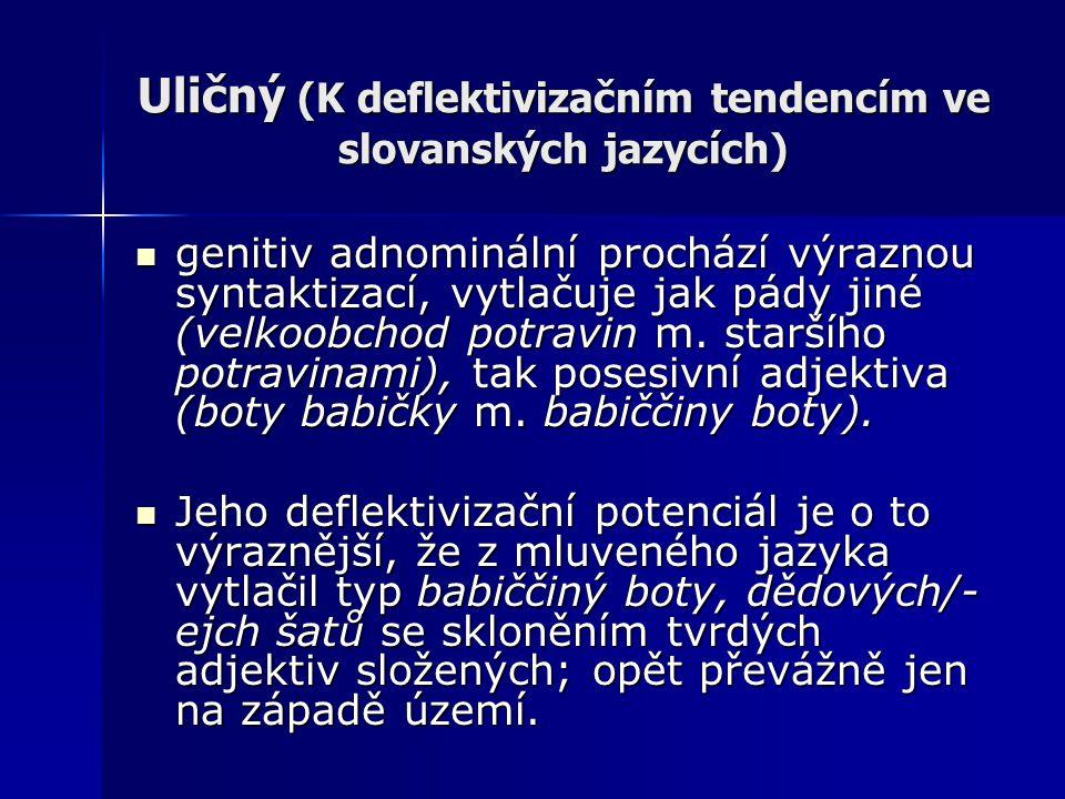 Uličný (K deflektivizačním tendencím ve slovanských jazycích)