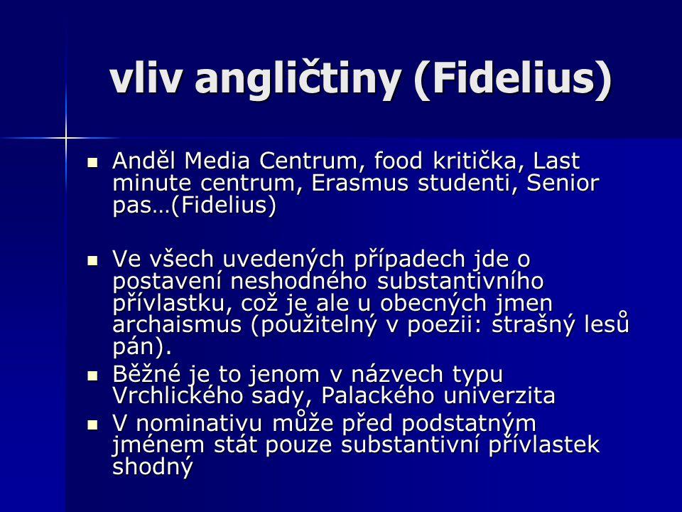 vliv angličtiny (Fidelius)