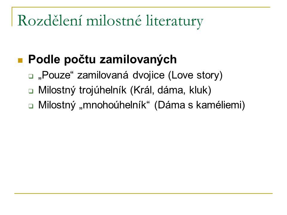 Rozdělení milostné literatury