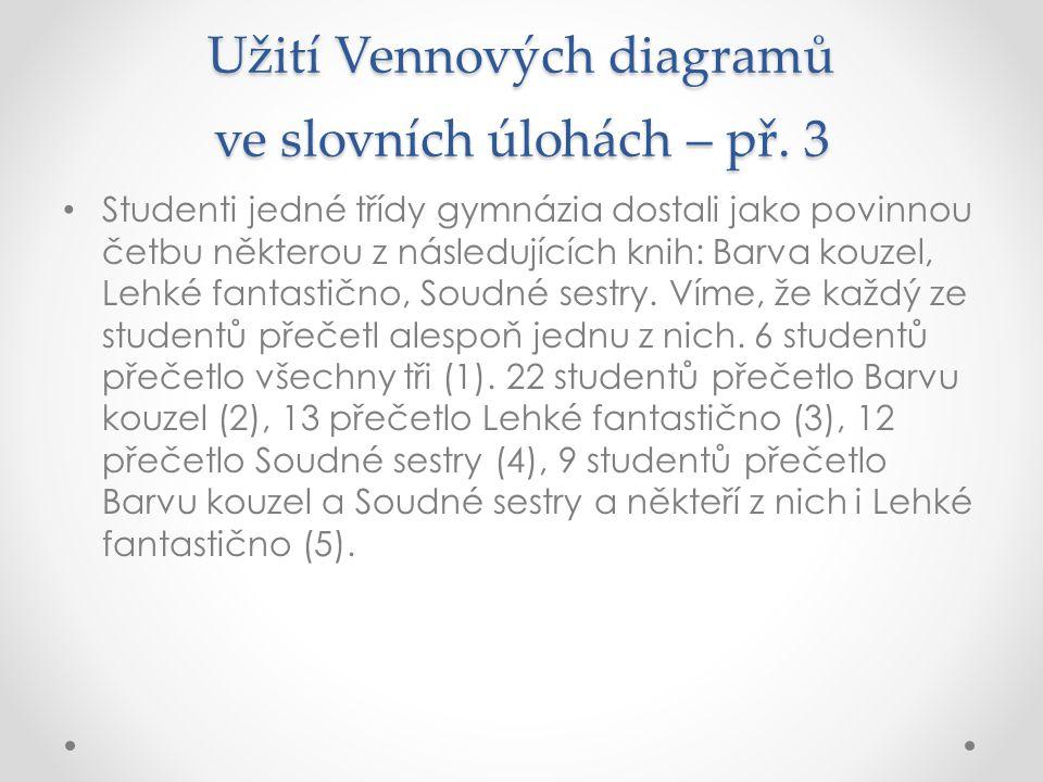 Užití Vennových diagramů ve slovních úlohách – př. 3