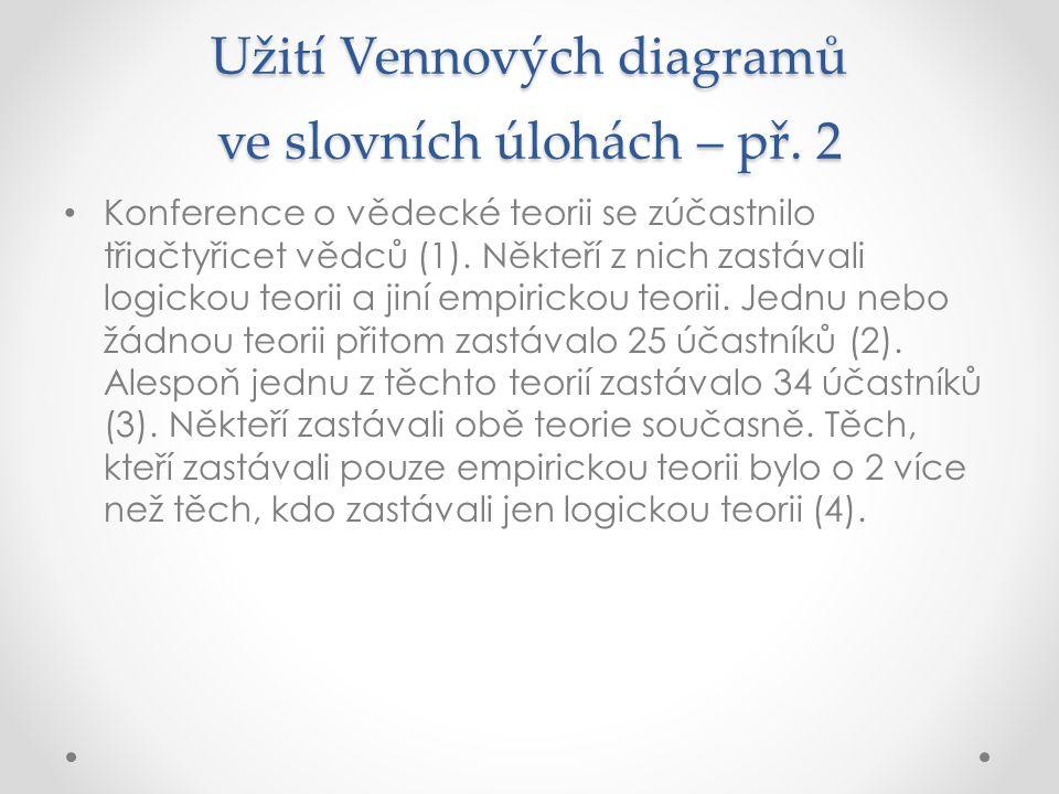 Užití Vennových diagramů ve slovních úlohách – př. 2