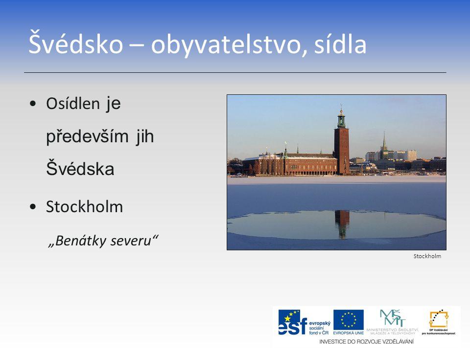 Švédsko – obyvatelstvo, sídla