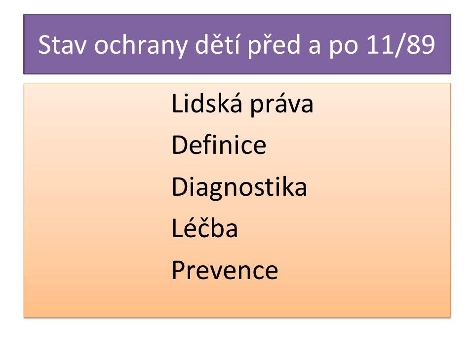 Stav ochrany dětí před a po 11/89