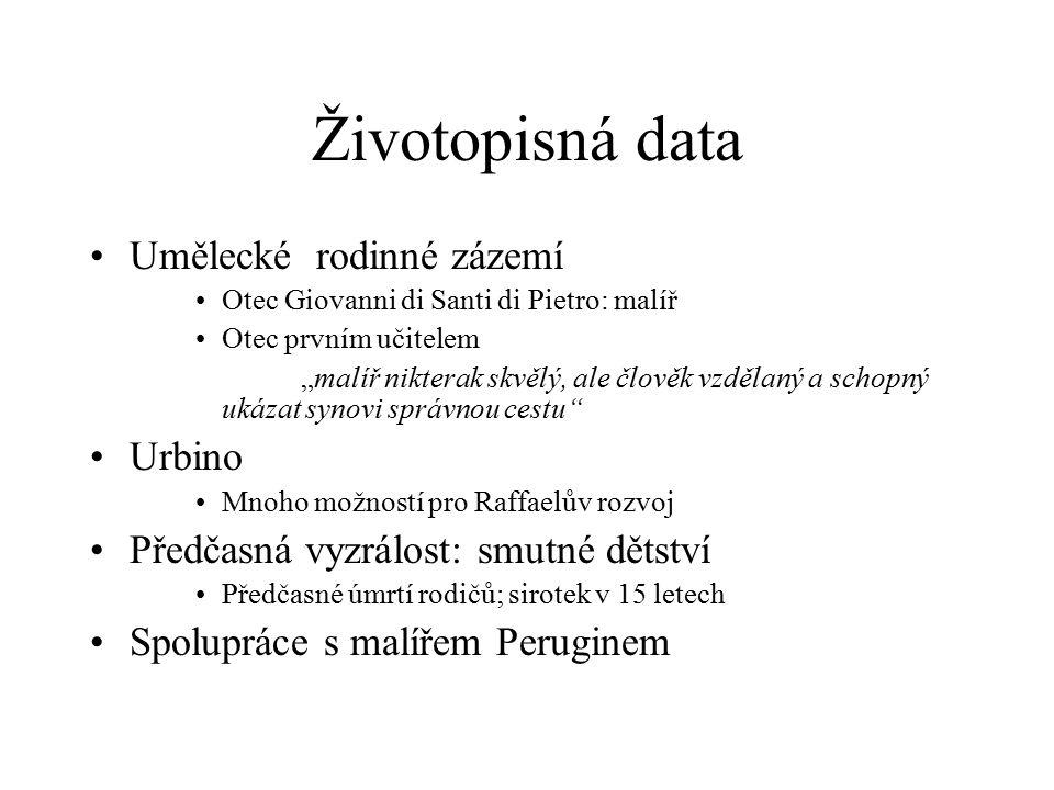 Životopisná data Umělecké rodinné zázemí Urbino