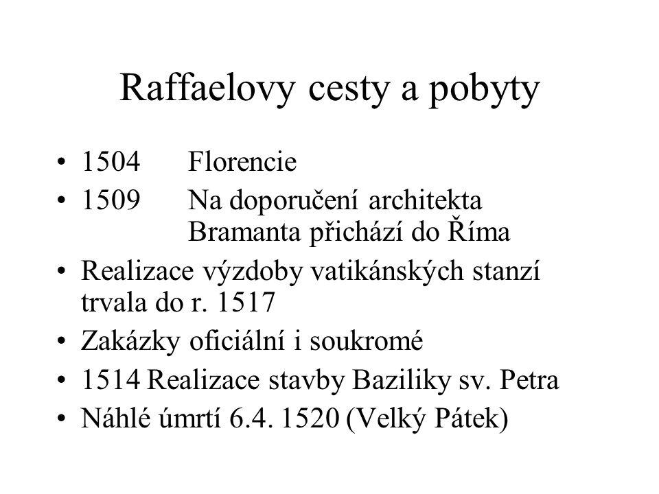 Raffaelovy cesty a pobyty