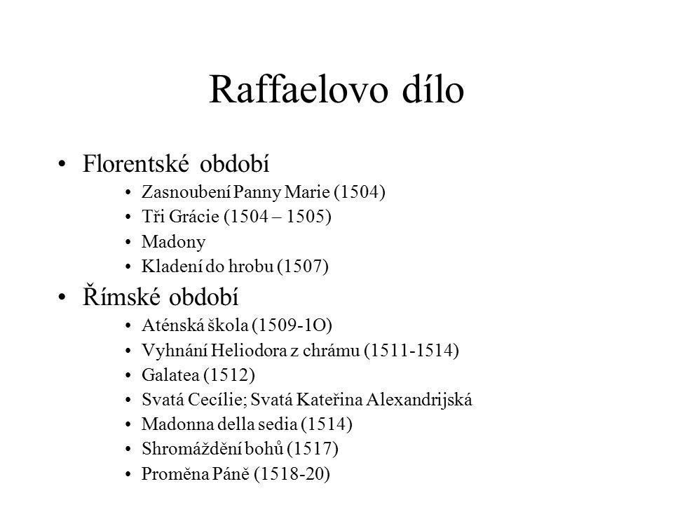 Raffaelovo dílo Florentské období Římské období