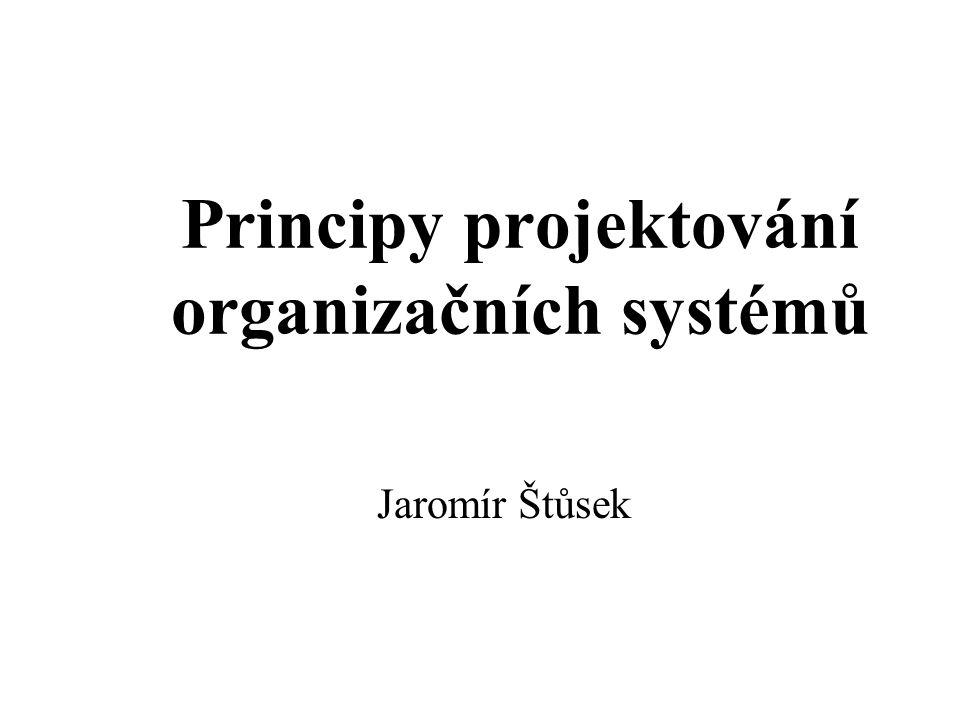 Principy projektování organizačních systémů