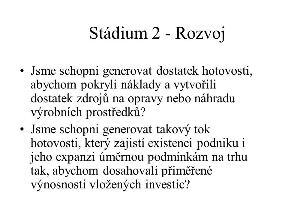 Stádium 2 - Rozvoj