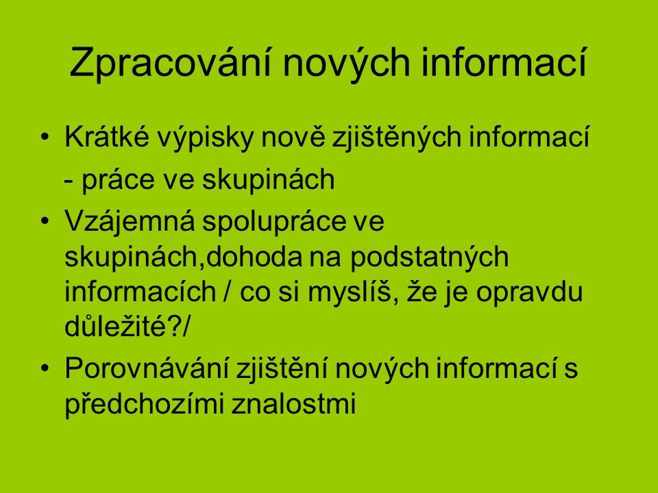 Zpracování nových informací