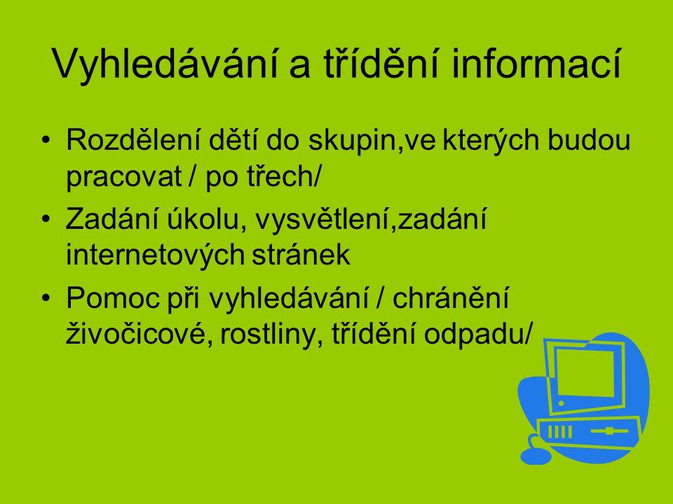 Vyhledávání a třídění informací