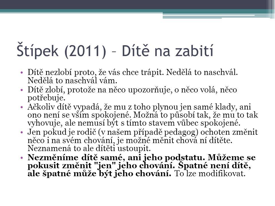 Štípek (2011) – Dítě na zabití