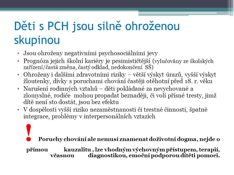 Děti s PCH jsou silně ohroženou skupinou