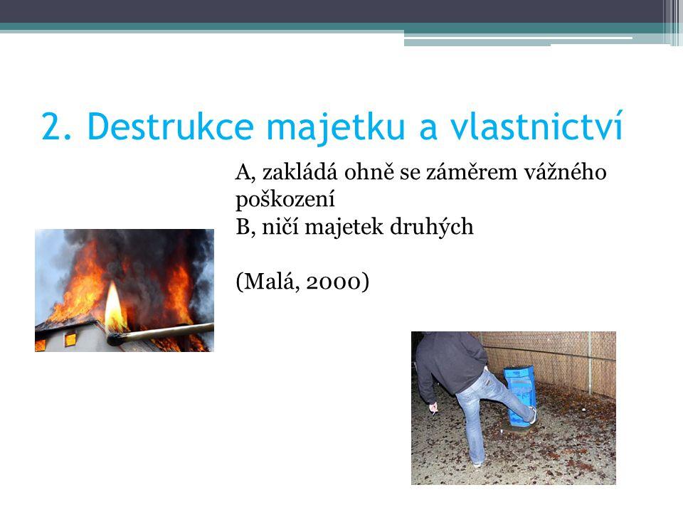 2. Destrukce majetku a vlastnictví