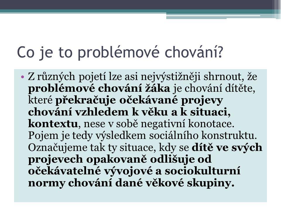 Co je to problémové chování