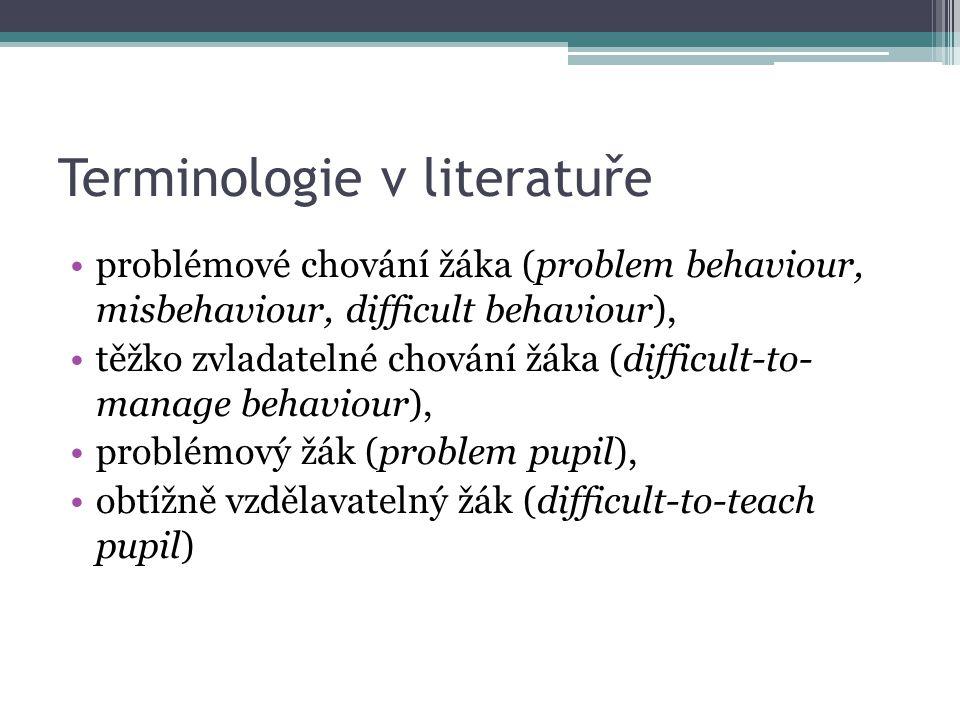 Terminologie v literatuře