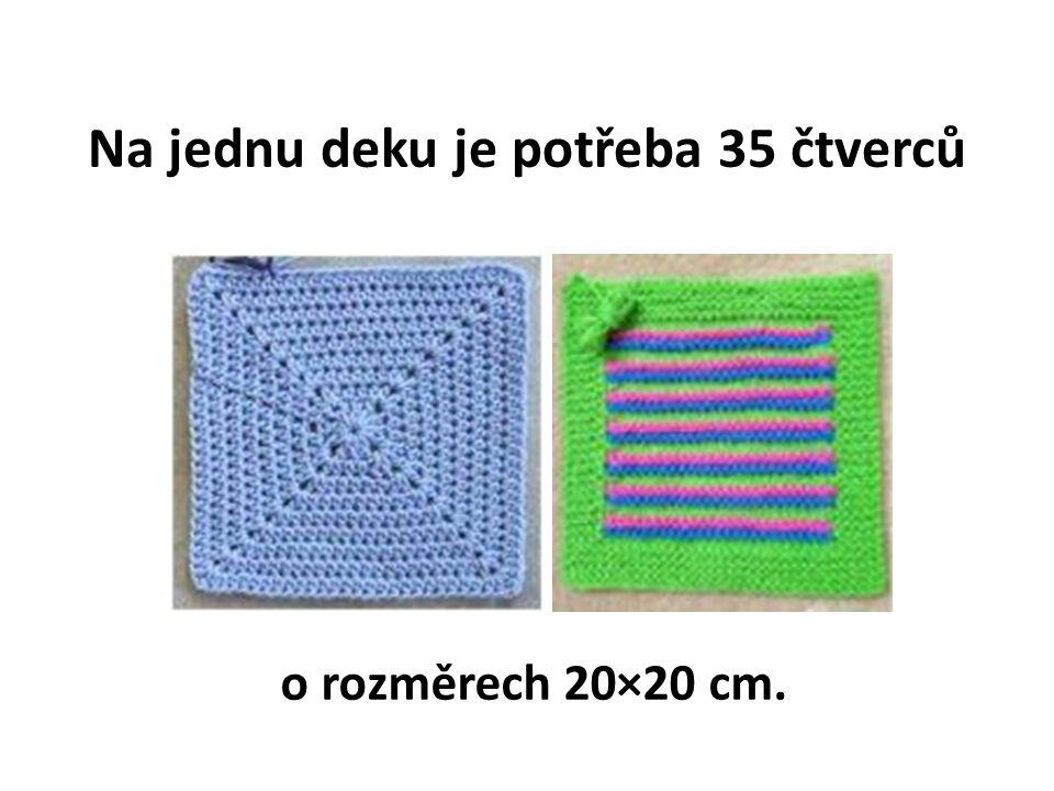 Na jednu deku je potřeba 35 čtverců