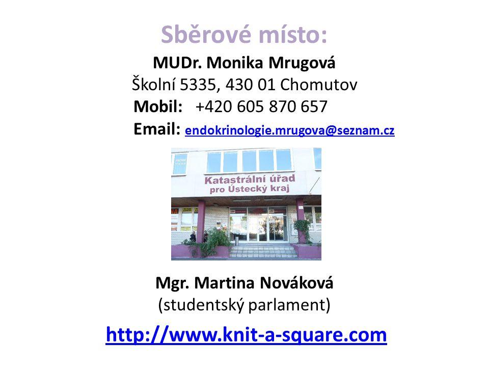 Sběrové místo: http://www.knit-a-square.com
