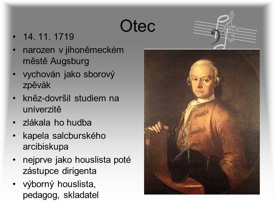 Otec 14. 11. 1719 narozen v jihoněmeckém městě Augsburg
